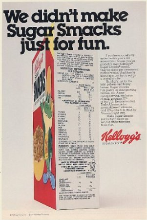 Sugar Smacks ad from 1977 (Leanwashing has been around for a while!)