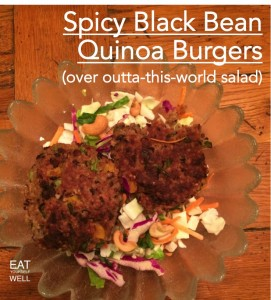 Spicy Black Bean Quinoa Burgers