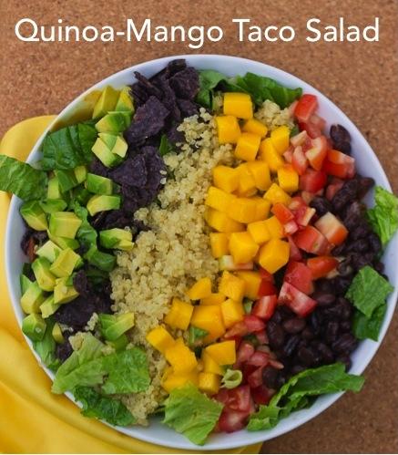 Quinoa Mango Taco Salad