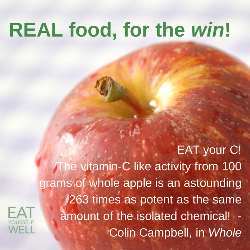 Vitamin C from an Apple, vs. a pill - Jennifer Silverberg, Eat Yourself Well