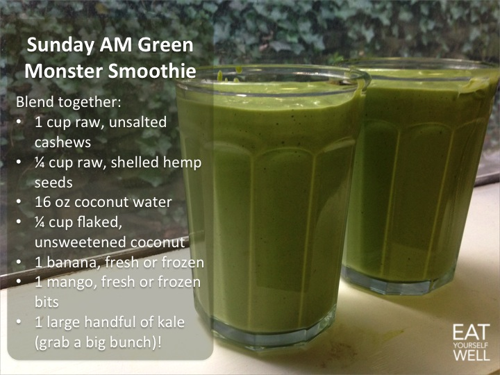 Green Monster Smoothie - Eat Yourself Well