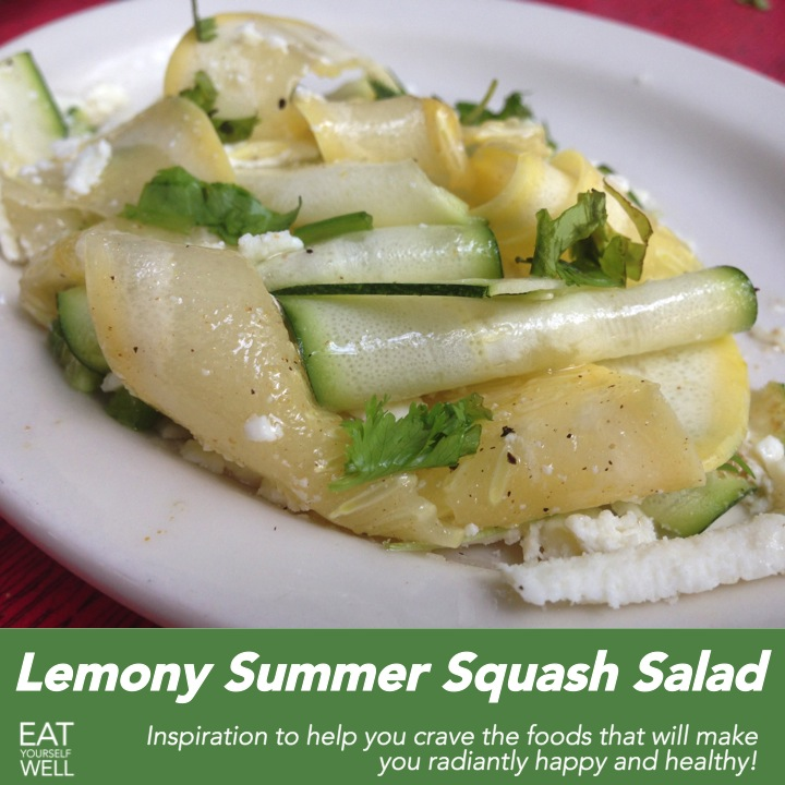Lemony Summer Squash Salad