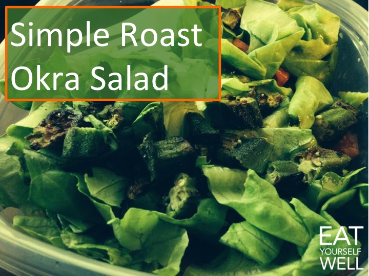 Roast Okra Salad