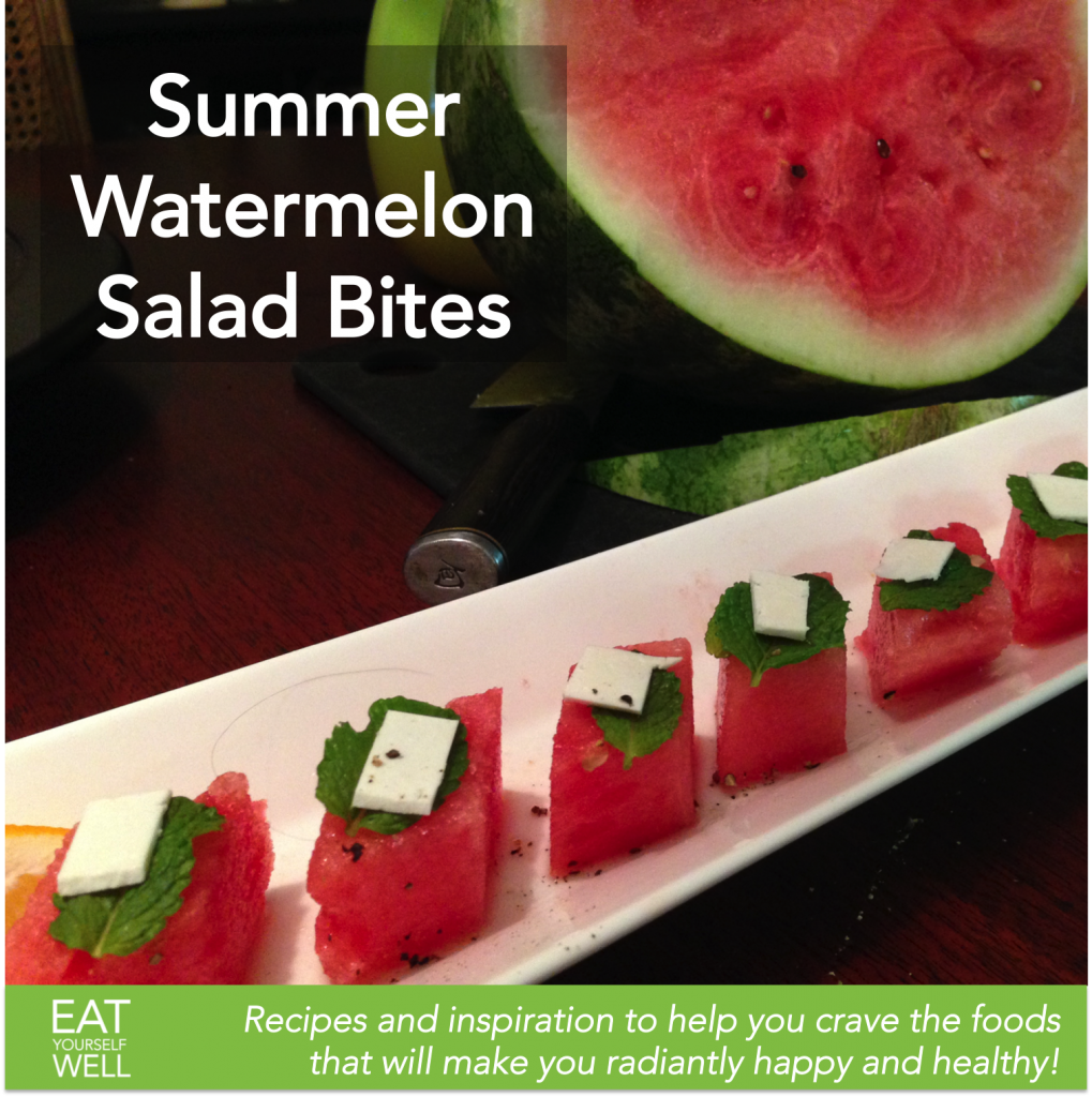 Summer Watermelon Salad Bites