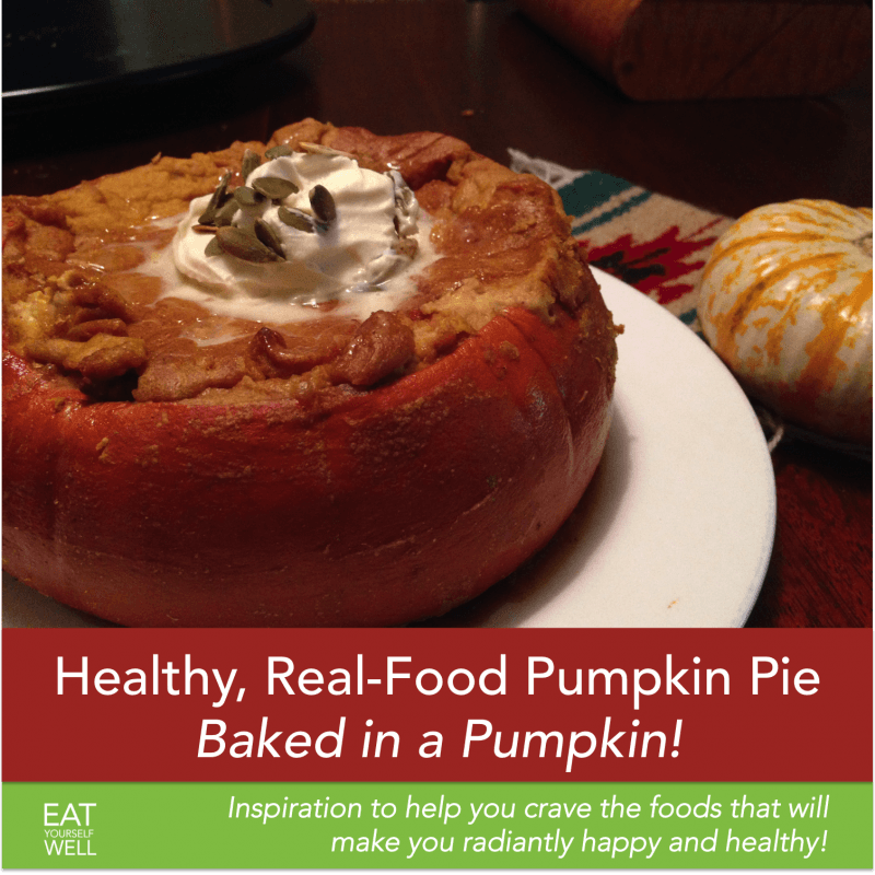 Healthy Pumpkin Pie, Baked in the Shell