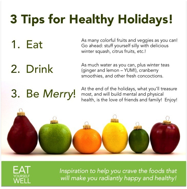 Healthy Holidays - 3 Tips