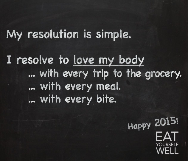 Healthy Resolution 2015 - Jennifer Silverberg