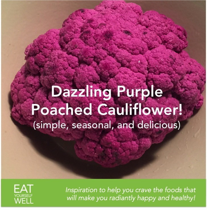 Poached Purple Cauliflower