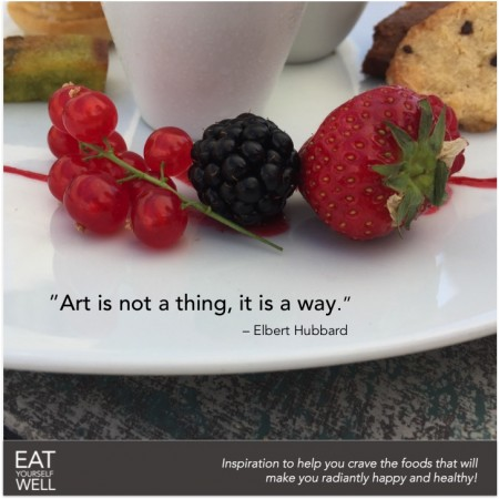On food as ART … and eating as ART