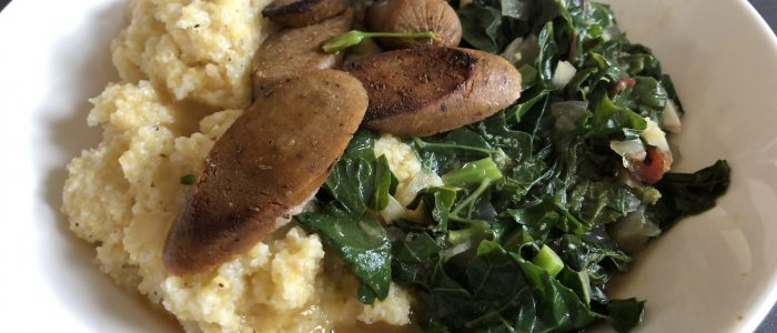 Quick Grits and Greens